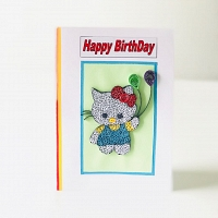 Handmade Happy Birthday Kity Card